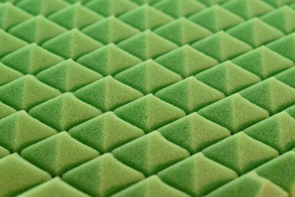 colchón de minicuna kibo mini núcleo detalle lémur